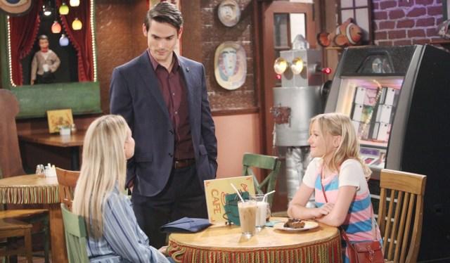 Sharon, Adam, Faith good terms Y&R