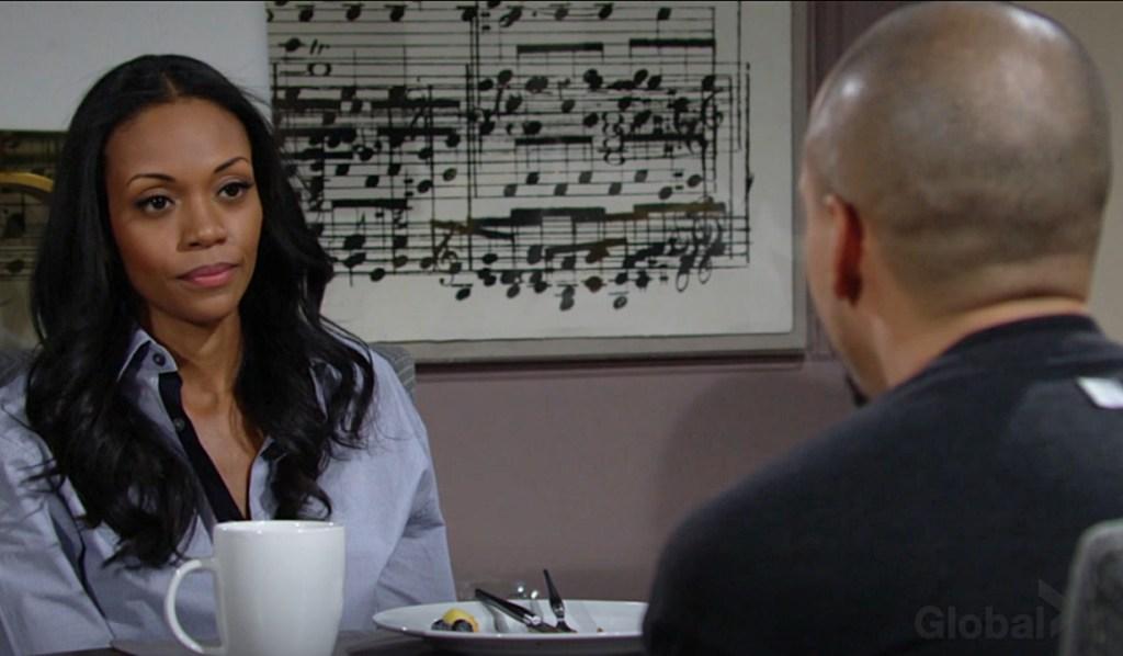 Amanda, Devon discuss her mother Y&R