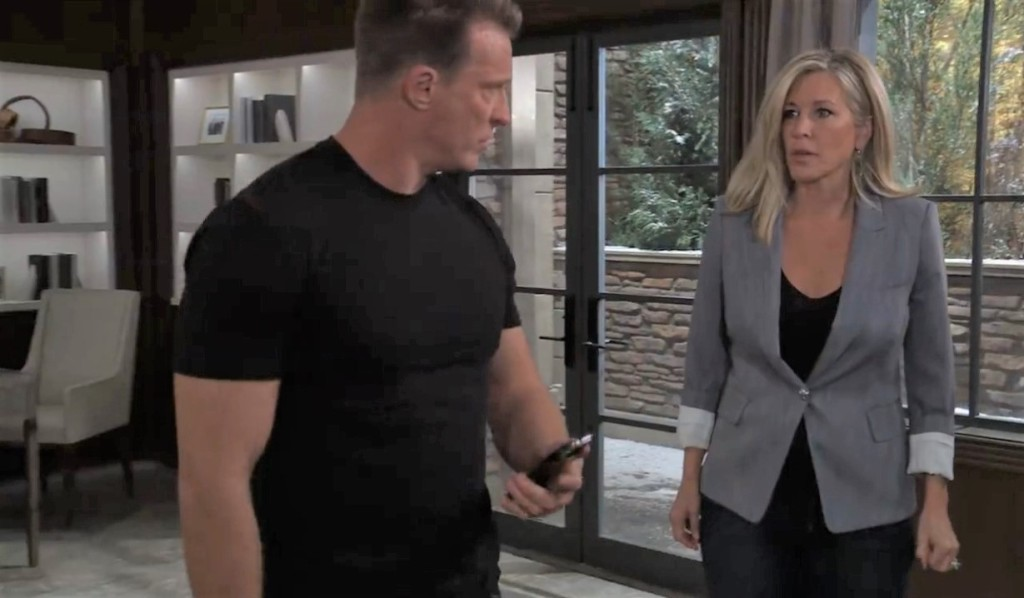 Jason and Carly discuss their plan at Corinthos house General Hospital