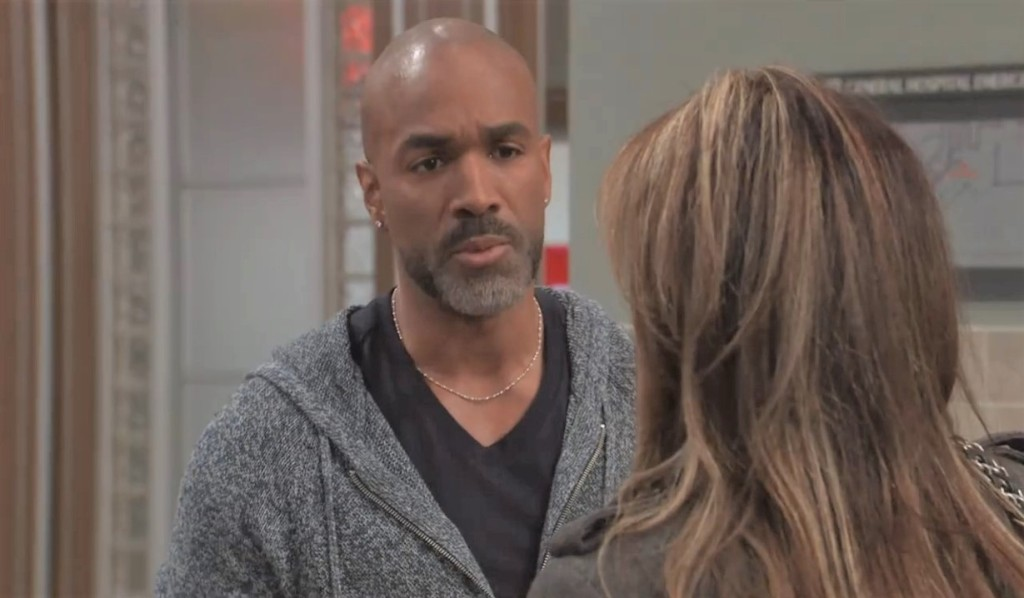 Curtis gives Alexis advice at General Hospital