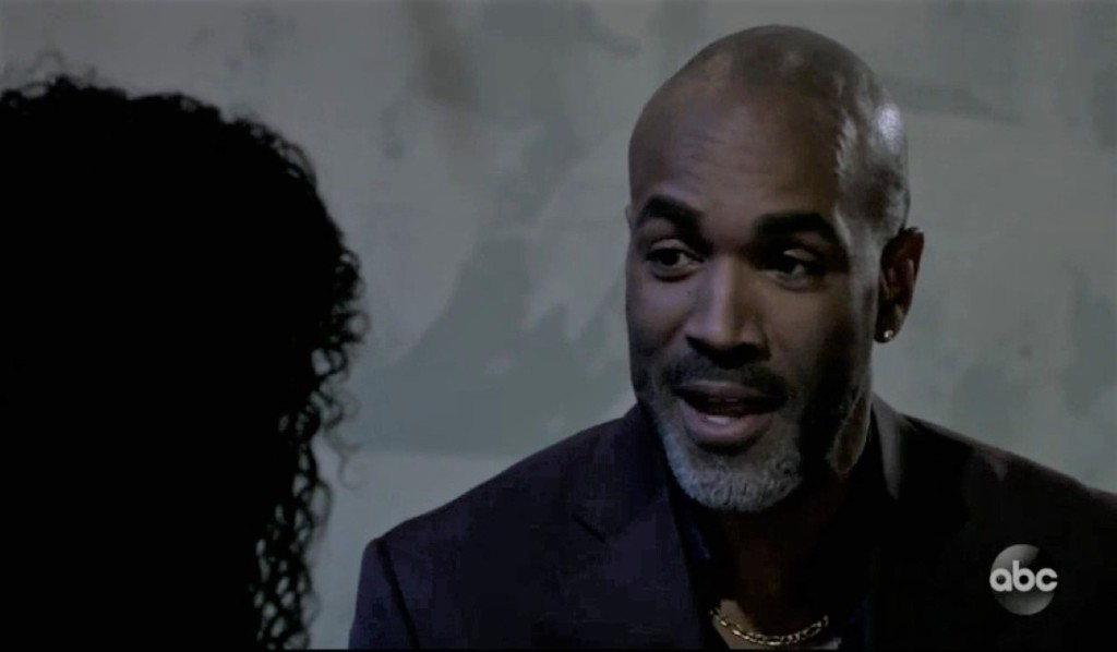 Curtis and Portia talk at the club General Hospital