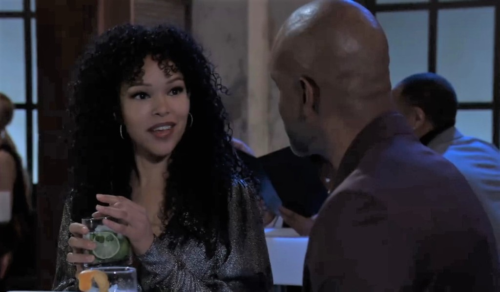 Curtis and Portia have dinner at club General Hospital