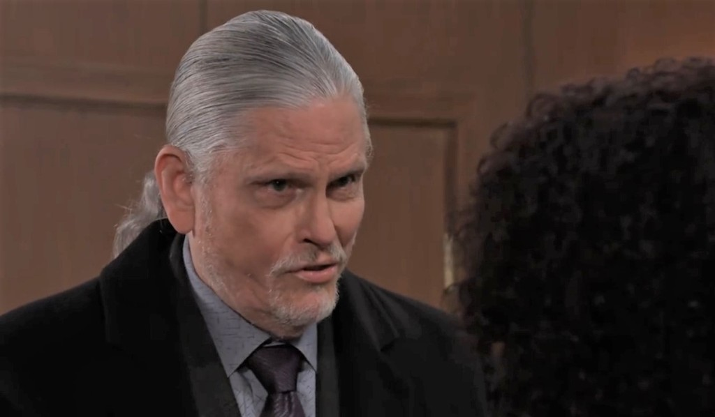 Cyrus threatens Jordan's family in her office General Hospital
