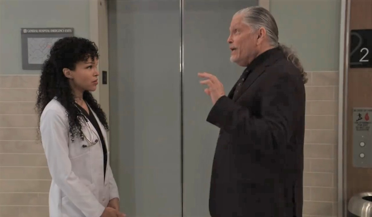 Cyrus invites Portia to board meeting at General Hospital