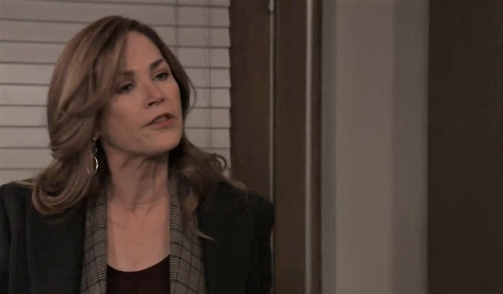 Jackie expresses her doubts to Finn at General Hospital