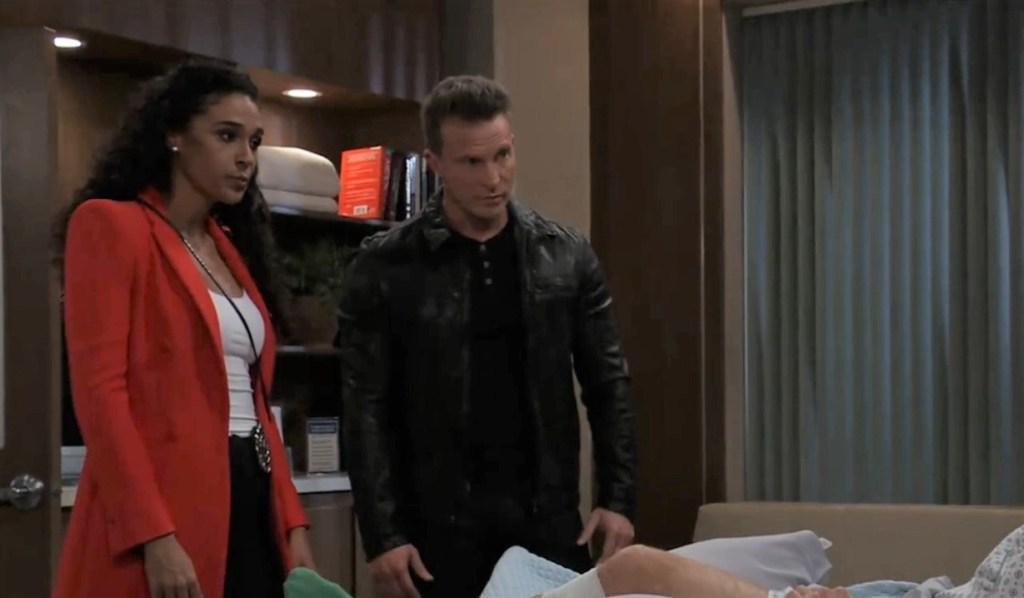 Jordan and Jason question Brando at General Hospital