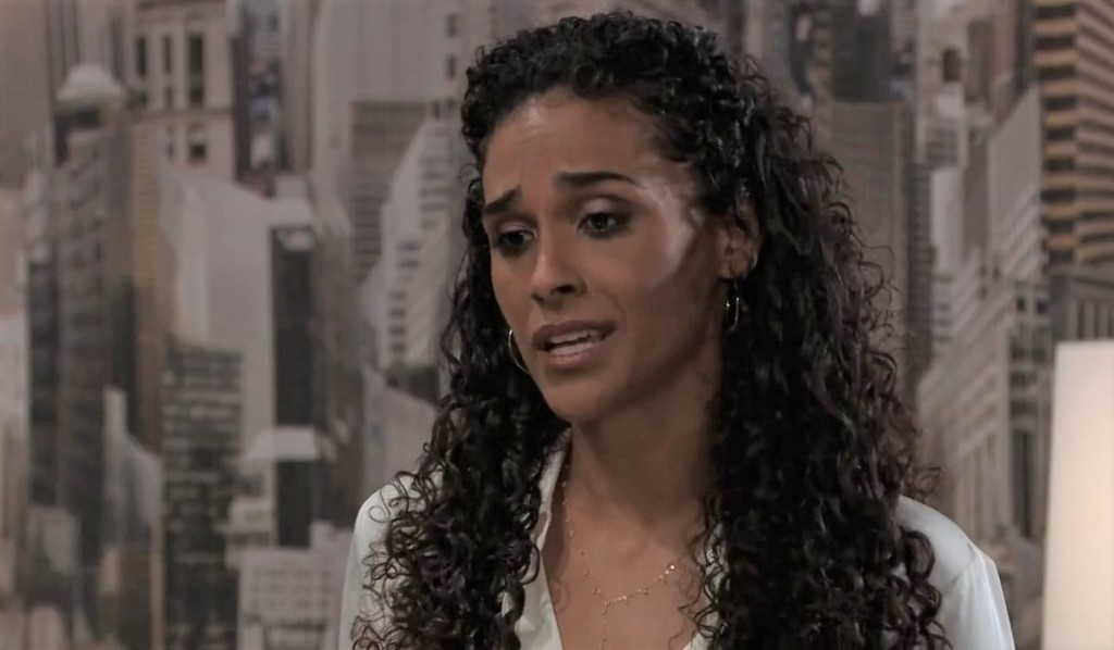 Jordan asks Curtis to come home in her office General Hospital