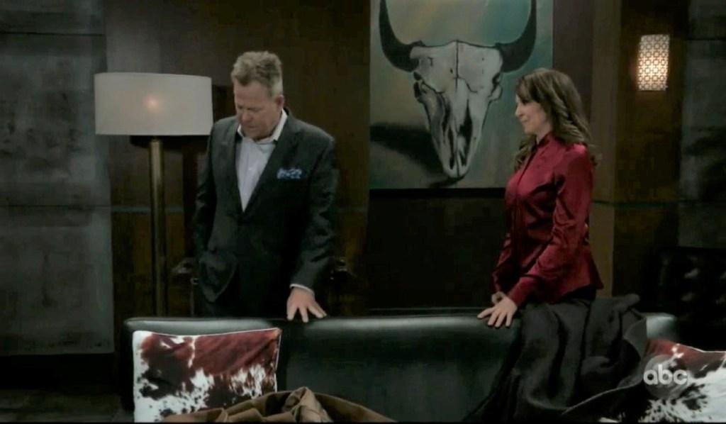Obrecht and Scott talk Franco at his place General Hospital