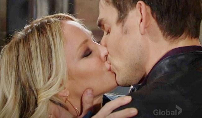 Sharon, Adam, kiss Y&R