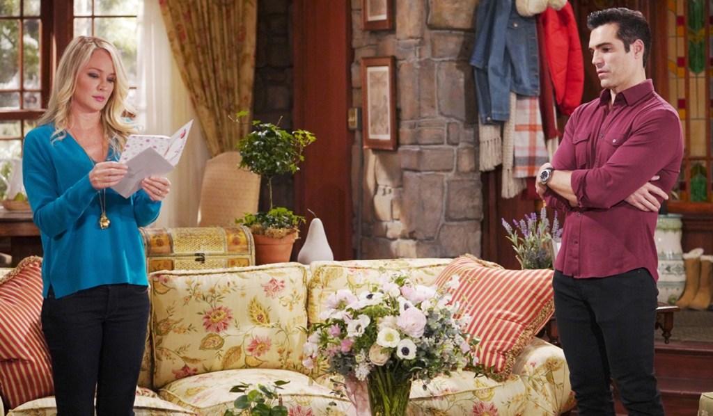 Sharon, Rey card Valentines Day Y&R