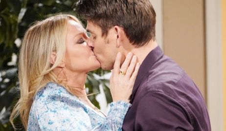 Sharon and Adam kiss Y&R