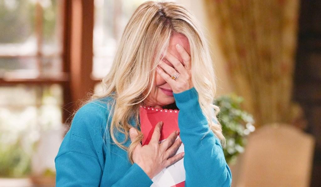 Sharon cry card Y&R