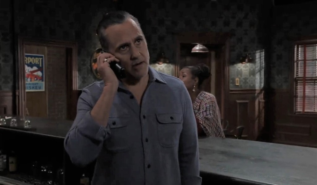 Sonny answers phone at Tan-o's General Hospital