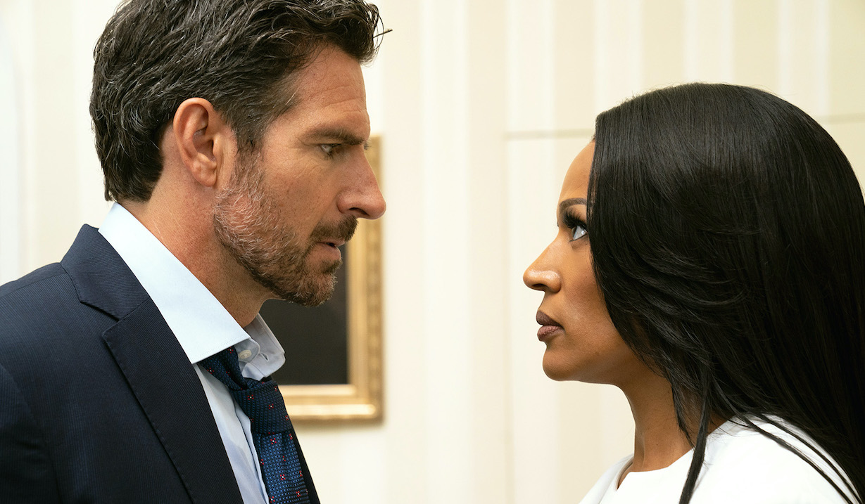 "Still from BET's ""The Oval"" episode 114. (Photo: Charles Bergmann/BET/Tyler Vision, LLC)"