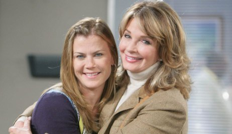 alison sweeney and deidre hall on set at DAYS
