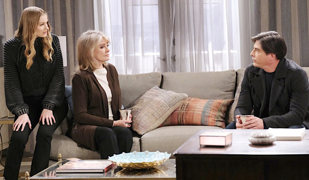 Lucas talks with Marlena and Allie on Days of Our Lives