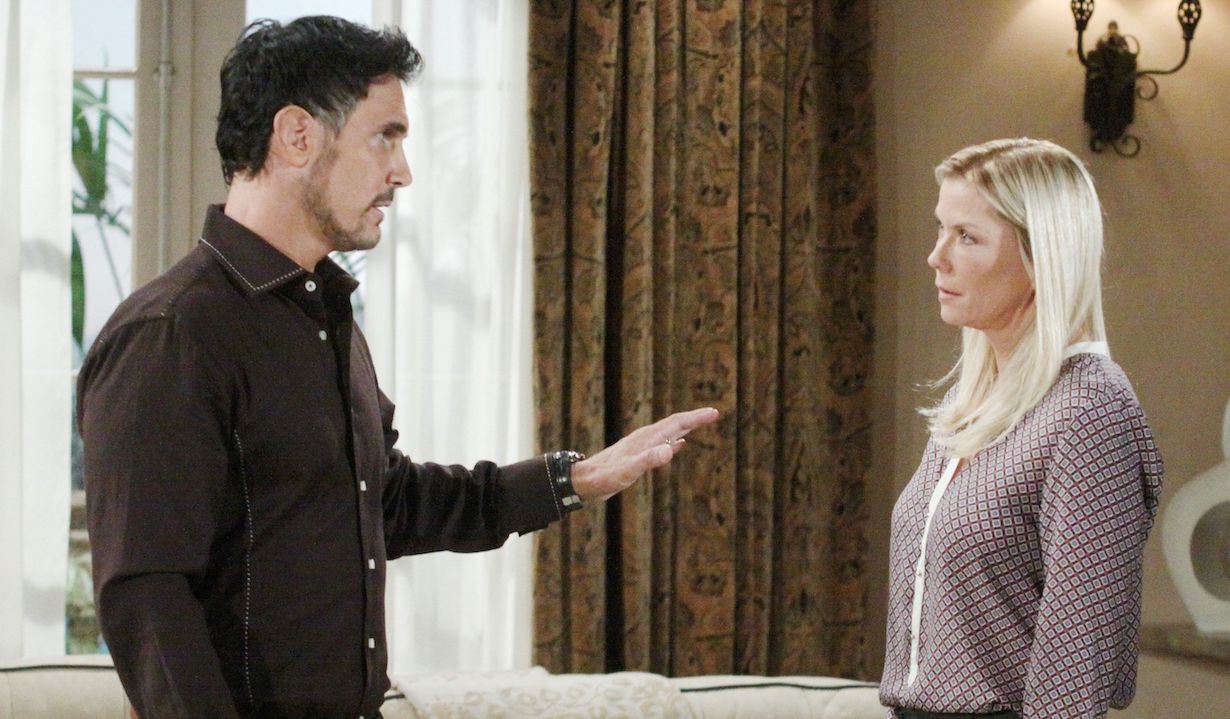 """Don Diamont, Katherine Kelly Lang """"The Bold and the Beautiful"""" bill brooke katie postpartum"""