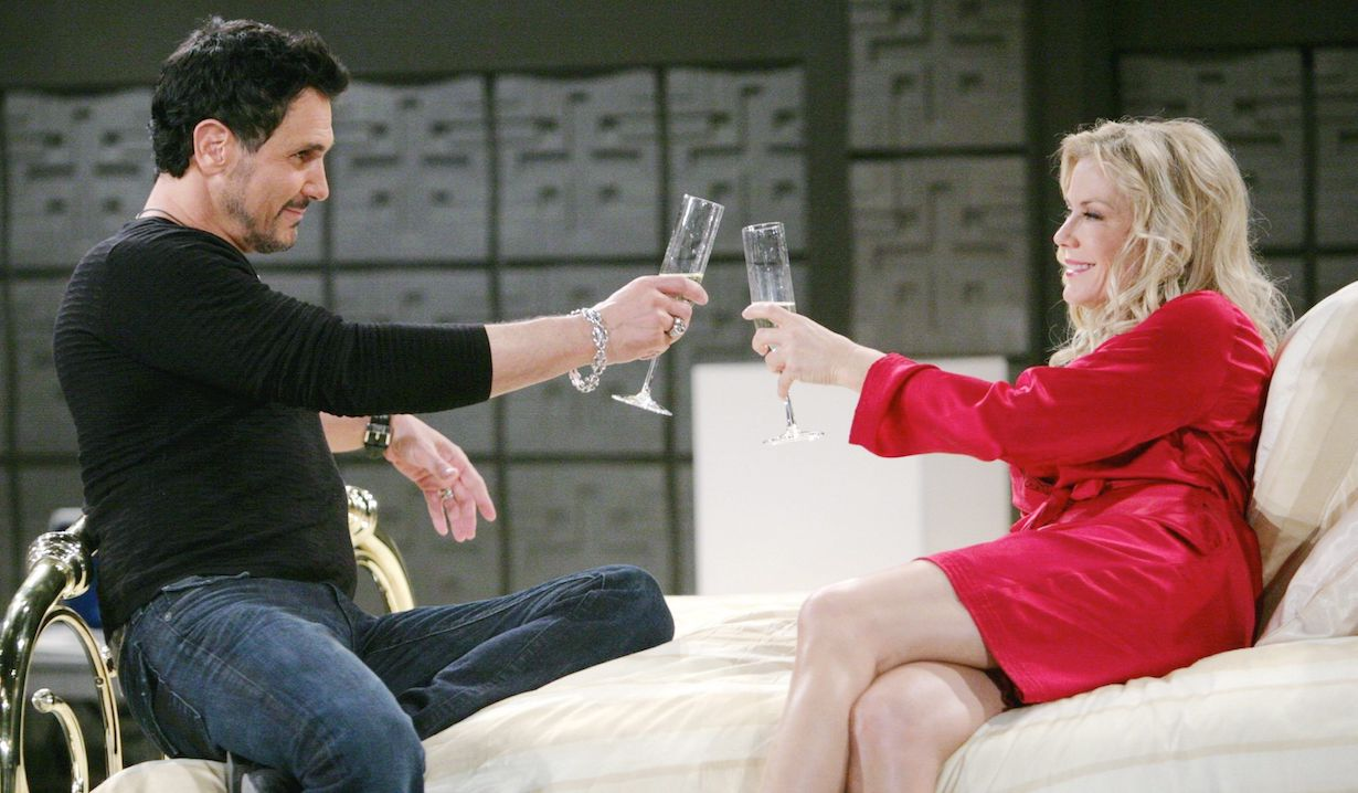 """brooke bill secret sex room hw Katherine Kelly Lang, Don Diamont """"The Bold and the Beautiful"""" brooke bill champagne sex den"""