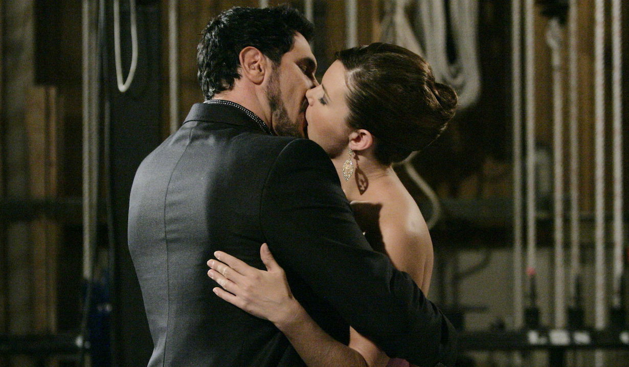 """Don Diamont, Heather Tom """"The Bold and the Beautiful"""" bill katie kiss"""