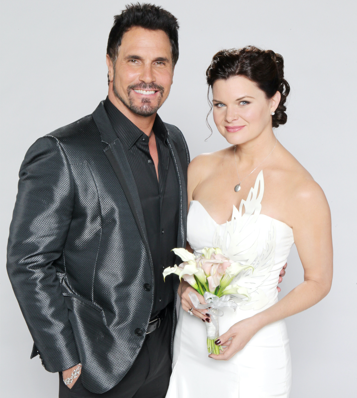 """Heather Tom, Don Diamont """"The Bold and the Beautiful"""" katie bill wedding 2015 jp"""