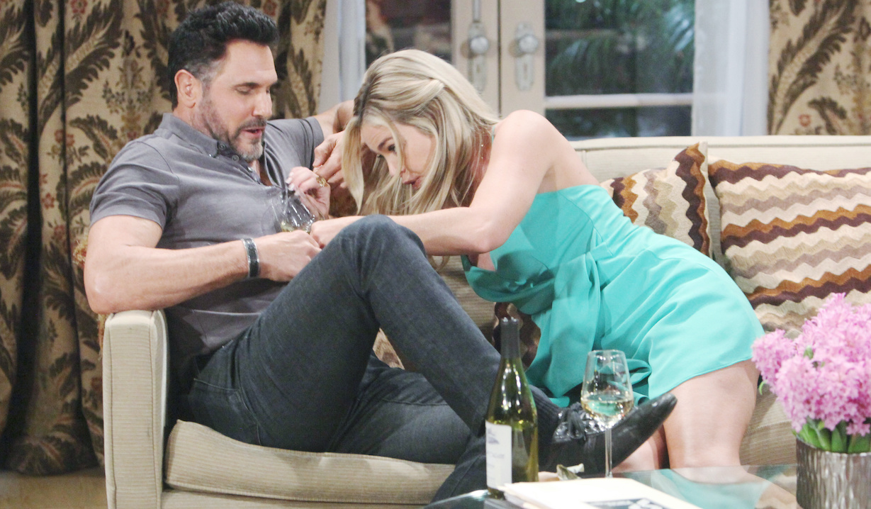 """Denise Richards, Don Diamont """"The Bold and the Beautiful"""" Set CBS Television City Los Angeles, Ca. 04/03/19 © Howard Wise/jpistudios.com 310-657-9661 Episode # 8090 U.S.Airdate 05/15/19"""