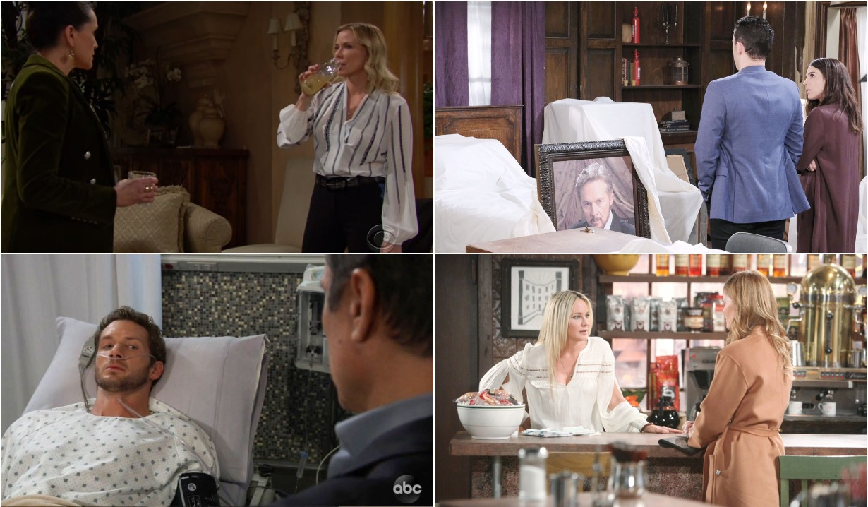bold and beautiful days of our lives general hospital young and the restless roundup February 10