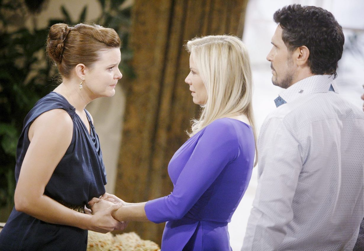 """brooke bill katie birthday party tears Katherine Kelly Lang, Heather Tom, Don Diamont""""The Bold and the Beautiful"""" Set CBS Television CityLos Angeles05/10/13© sean smith/jpistudios.com310-657-9661Episode # 6605U.S.Airdate 07/01/13"""