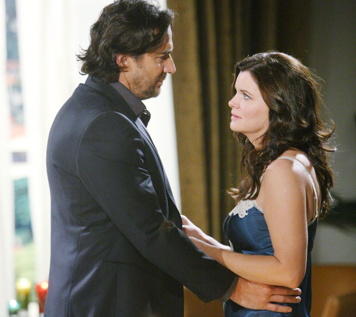 "Thorsten Kaye, Heather Tom""The Bold and the Beautiful"" SetCBS Television CityLos Angeles, Ca.01/31/14© sean smith/jpistudios.com310-657-9661Episode # 6796U.S.Airdate 04/04/14"