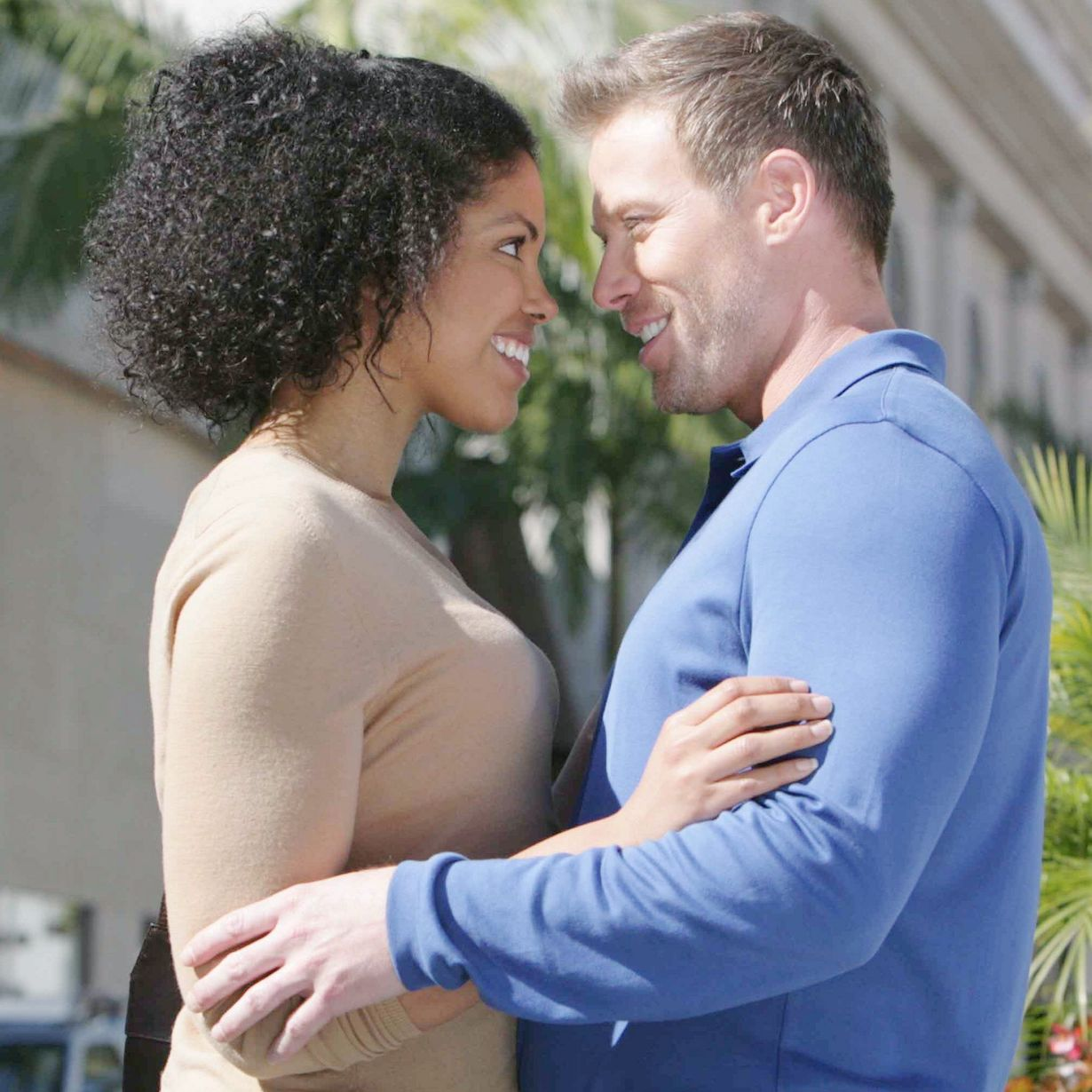 "Jacob Young, Karla Mosley ""The Bold and the Beautiful"" Set Location on Rodeo Drive Beverly Hills, Ca 02/12/13 © Howard Wise/jpistudios.com 310-657-9661 Episode # 6529 U.S.Airdate 03/13/13"