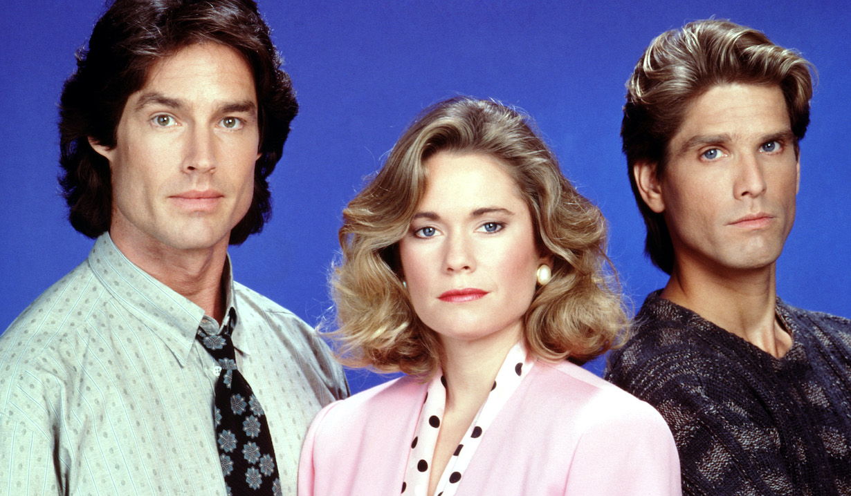 THE BOLD AND THE BEAUTIFUL, Ronn Moss, Joanna Johnson, Clayton Norcross, (1989), 1987-, © CBS / Courtesy: Everett Collection