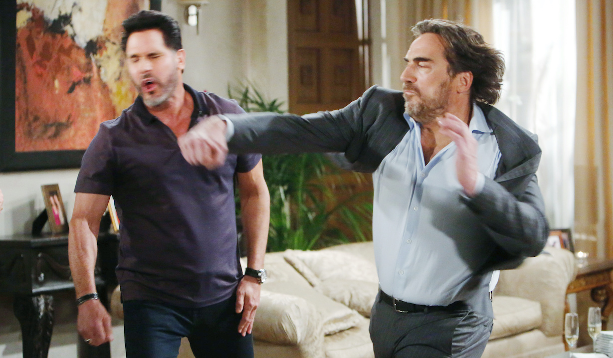 """Don Diamont, Thorsten Kaye """"The Bold and the Beautiful"""" Set CBS Television City Los Angeles, Ca. 02/13/20 © Howard Wise/jpistudios.com 310-657-9661 Episode # 8302 U.S.Airdate 03/31/20"""