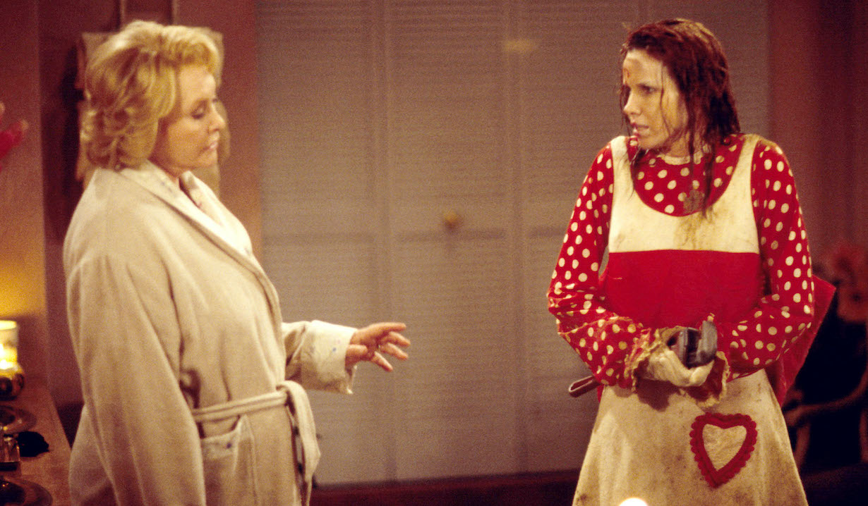 Susan Flannery and Sarah Buxton Bold and Beautiful set morgan clown stephanie