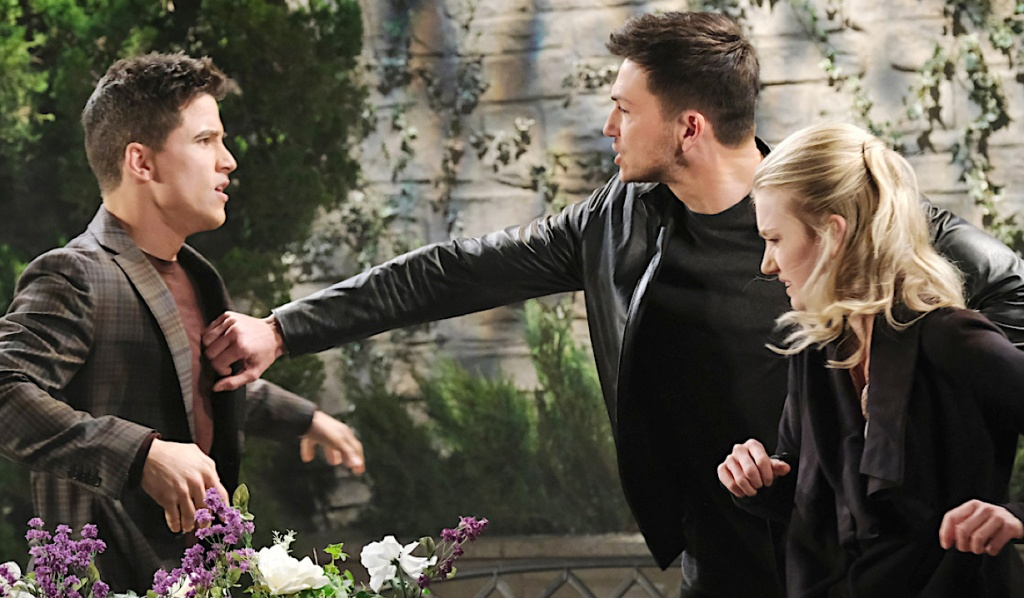 Ben protects Claire from Charlie on Days of Our Lives
