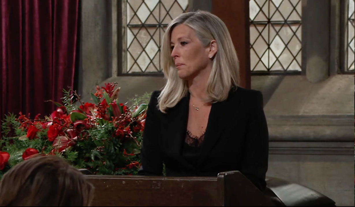 Carly speaks at Sonny's funeral on GH ABC