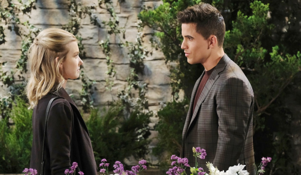 Claire encounters Charlie in the park on Days of Our Lives