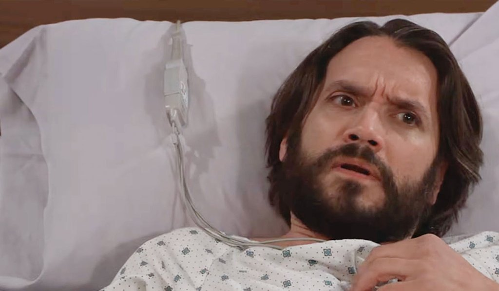 Dante wakes in the hospital confused on GH