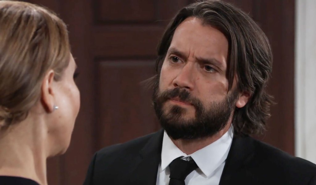 Olivia and Dante at the funeral on GH