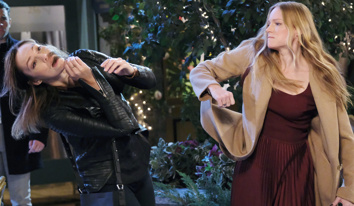 Abigail slaps Gwen on Days of Our Lives