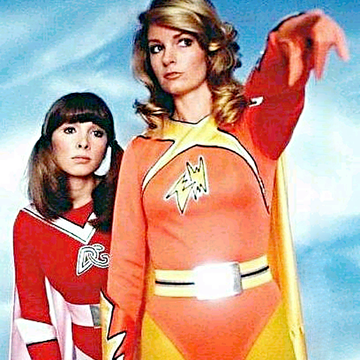 ELECTRA WOMAN AND DYNA GIRL, Judy Strangis, Deidre Hall, 1976 TV series.