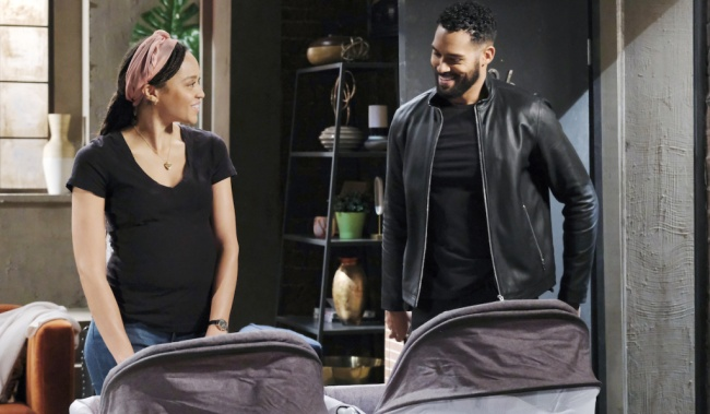 Eli and Lani bring their twins home on Days of Our Lives JJ