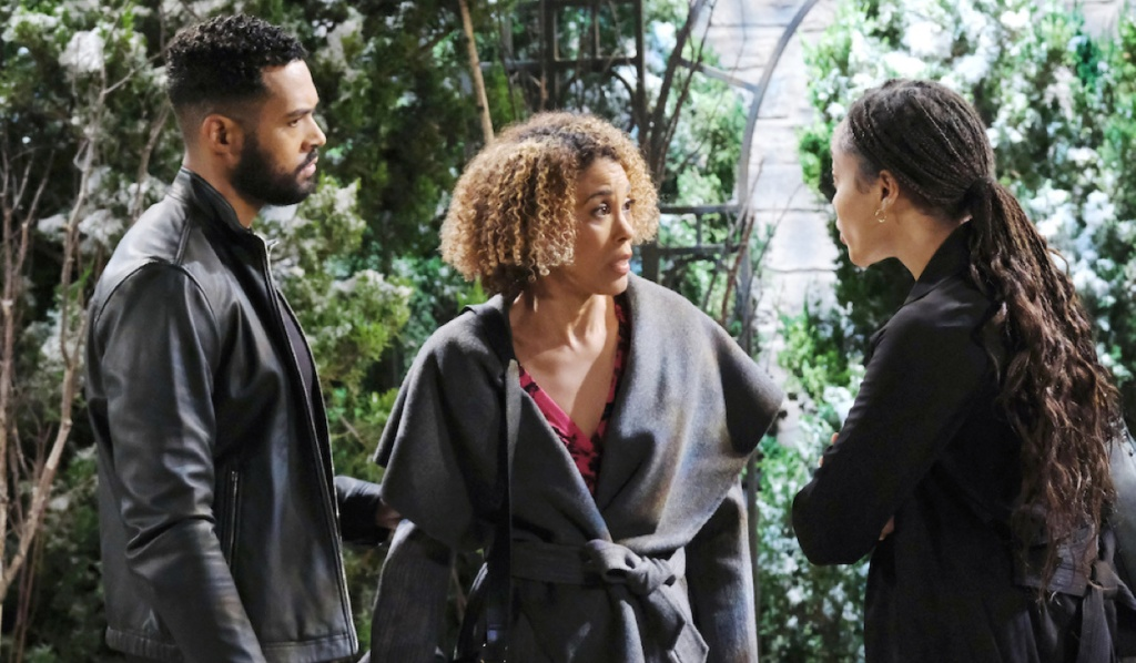 Raynor explains to Eli and Lani on Days of Our Lives