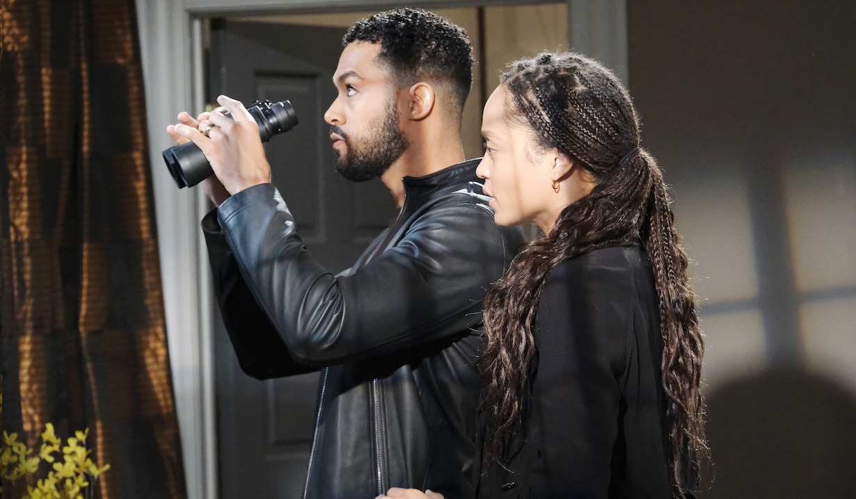 Eli and Lani stake out Raynor on Days of Our Lives