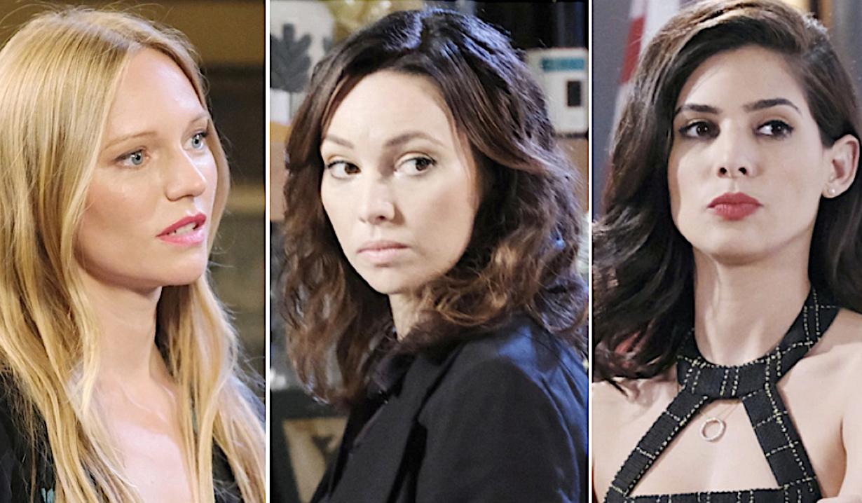 Abigail and Gabi against Gwen on Days of Our Lives