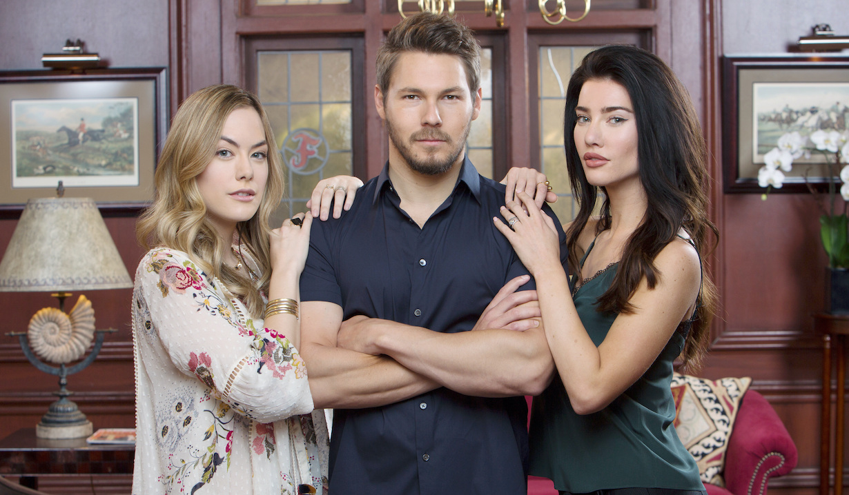 "bb liam steffy hope Jacqueline MacInnes Wood, Scott Clifton, Annika Noelle""The Bold and the Beautiful"" SetCBS Television CityLos Angeles, Ca.06/05/18© Howard Wise/jpistudios.com310-657-9661"