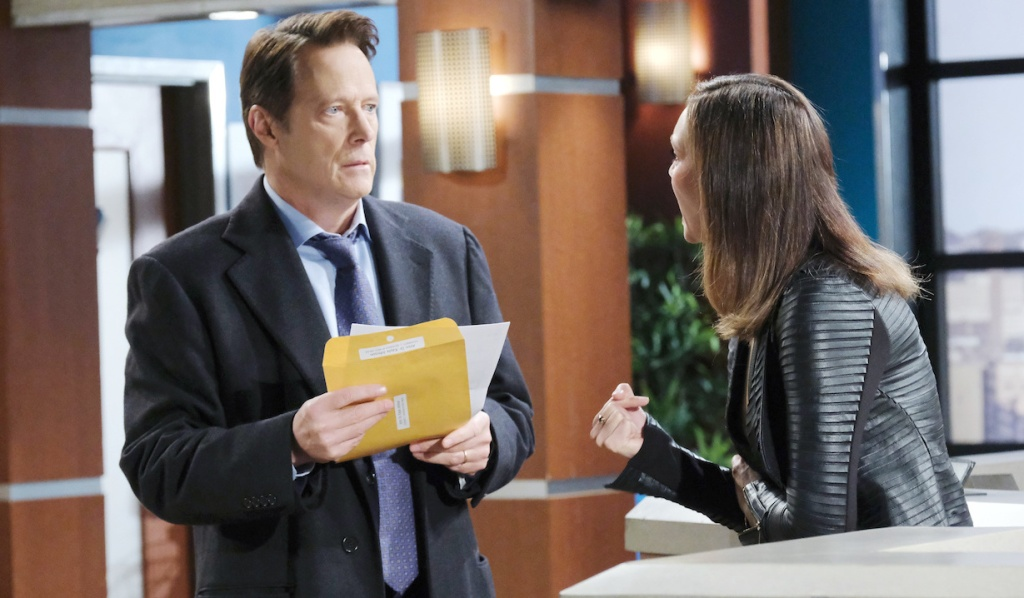 Jack reels over the paternity test results on Days of Our Lives