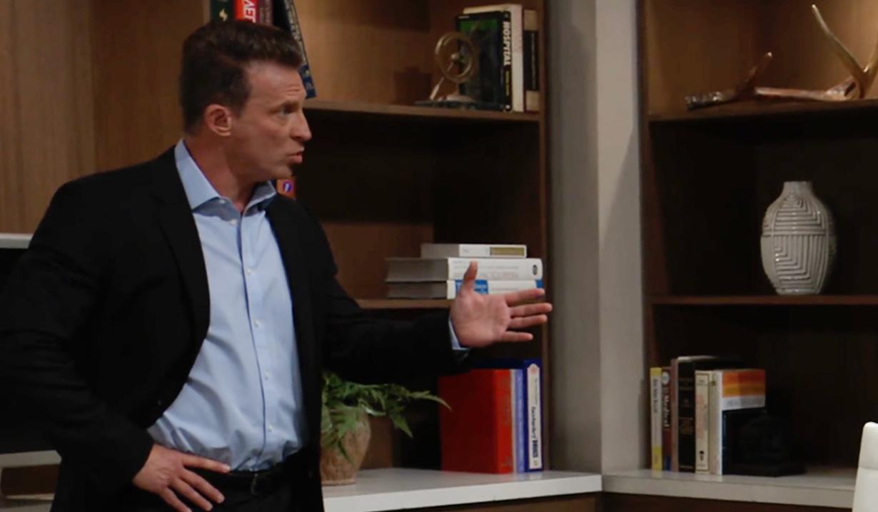 Jason talks with Britt about Cyrus on GH ABC