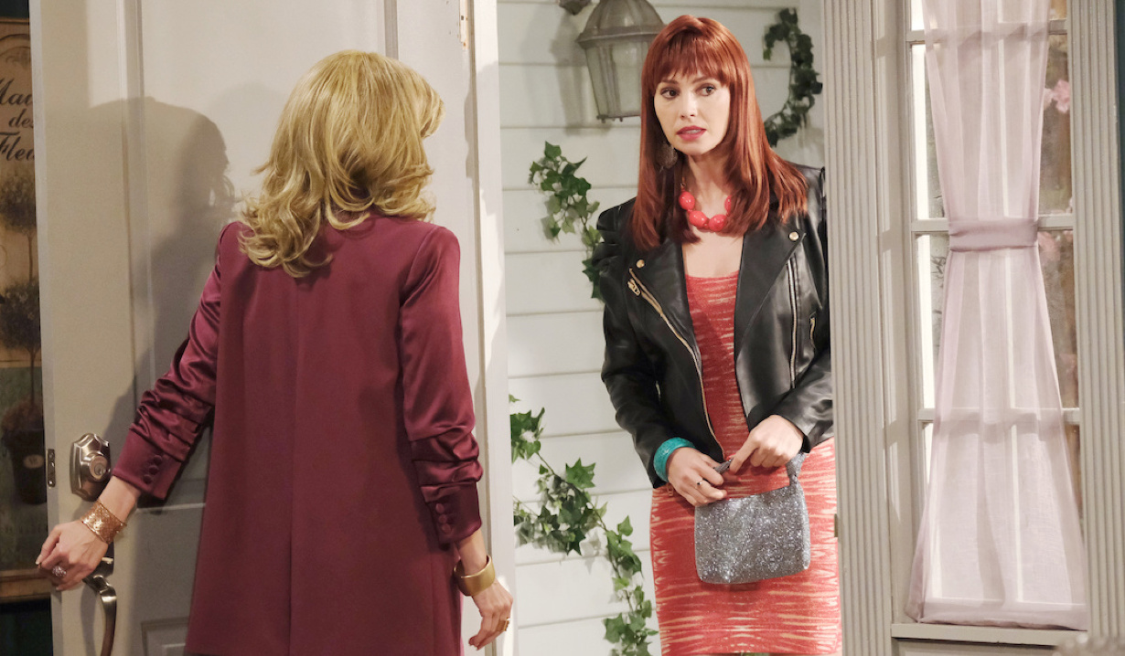 Young Laura opens the door to Tiffany on Days of Our Lives