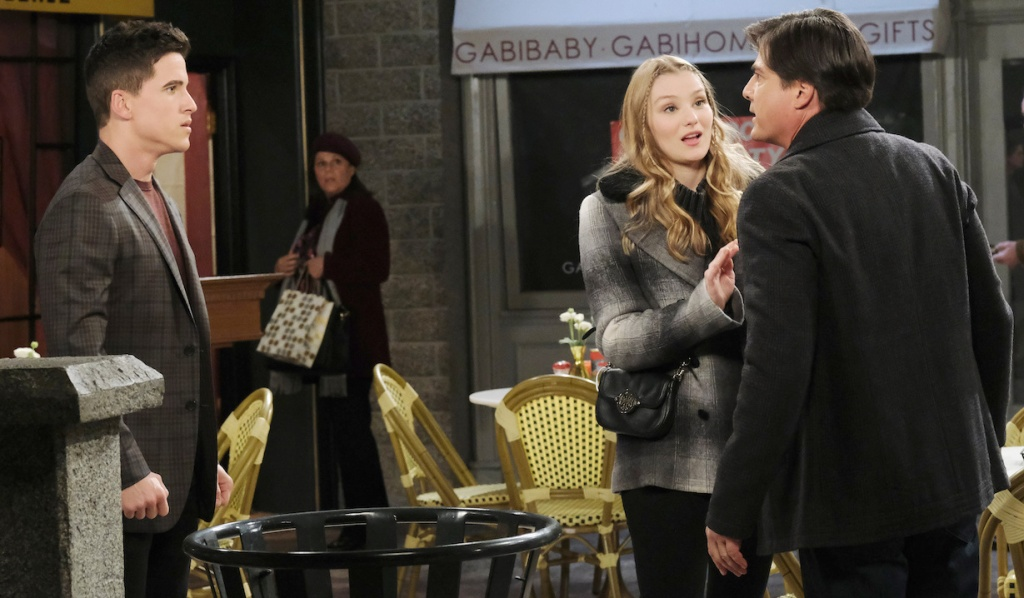 Allie pulls Lucas away from Charlie on Days of Our Lives
