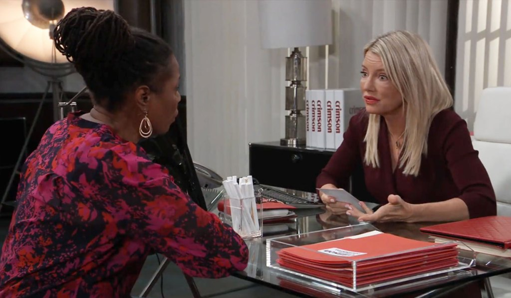 Nina questions Phyllis about Nelle on GH