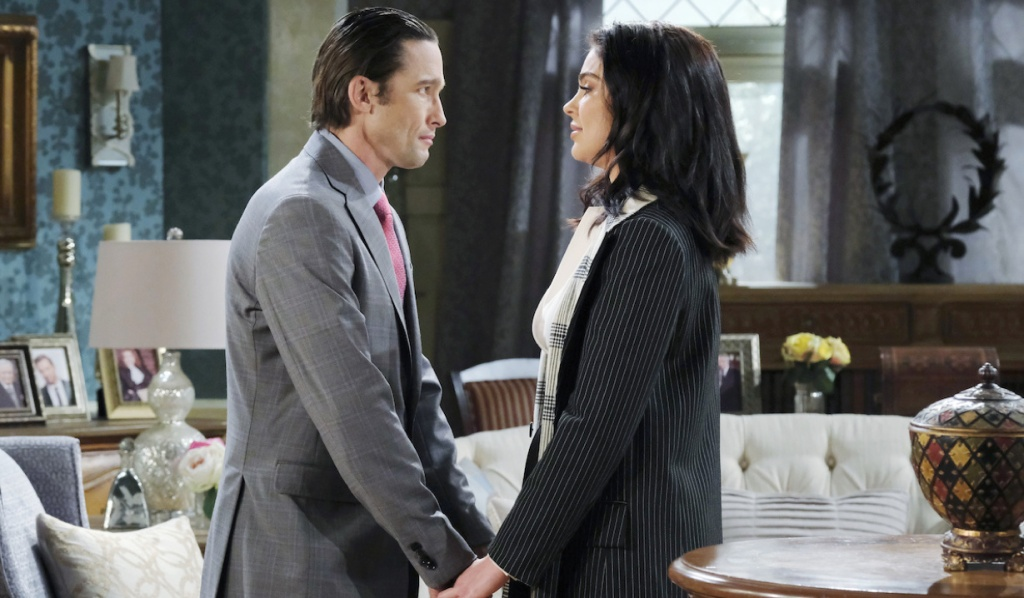 Philip leans in for a kiss with Chloe on Days of Our Lives